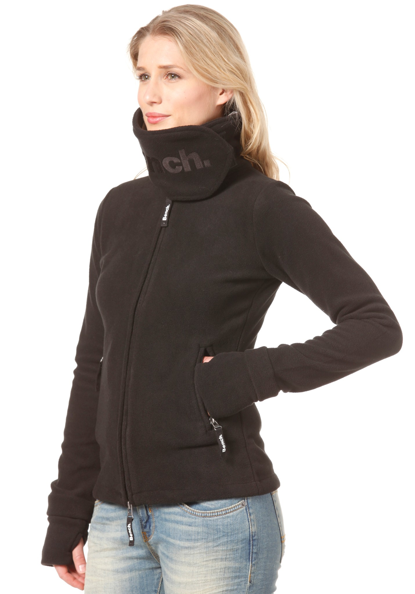 neu bench funnel neck fleece jacket damen sweatjacke jacke. Black Bedroom Furniture Sets. Home Design Ideas