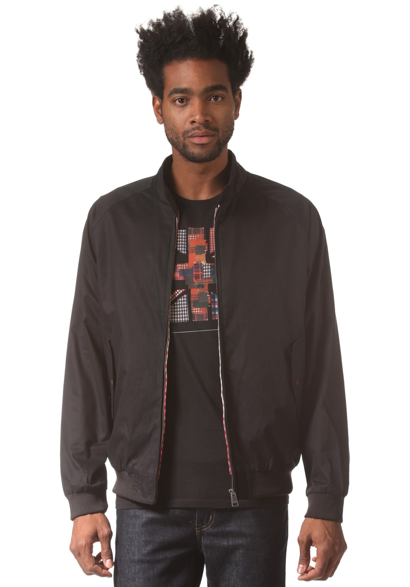 neu ben sherman cotton harrington herren jacke ebay. Black Bedroom Furniture Sets. Home Design Ideas