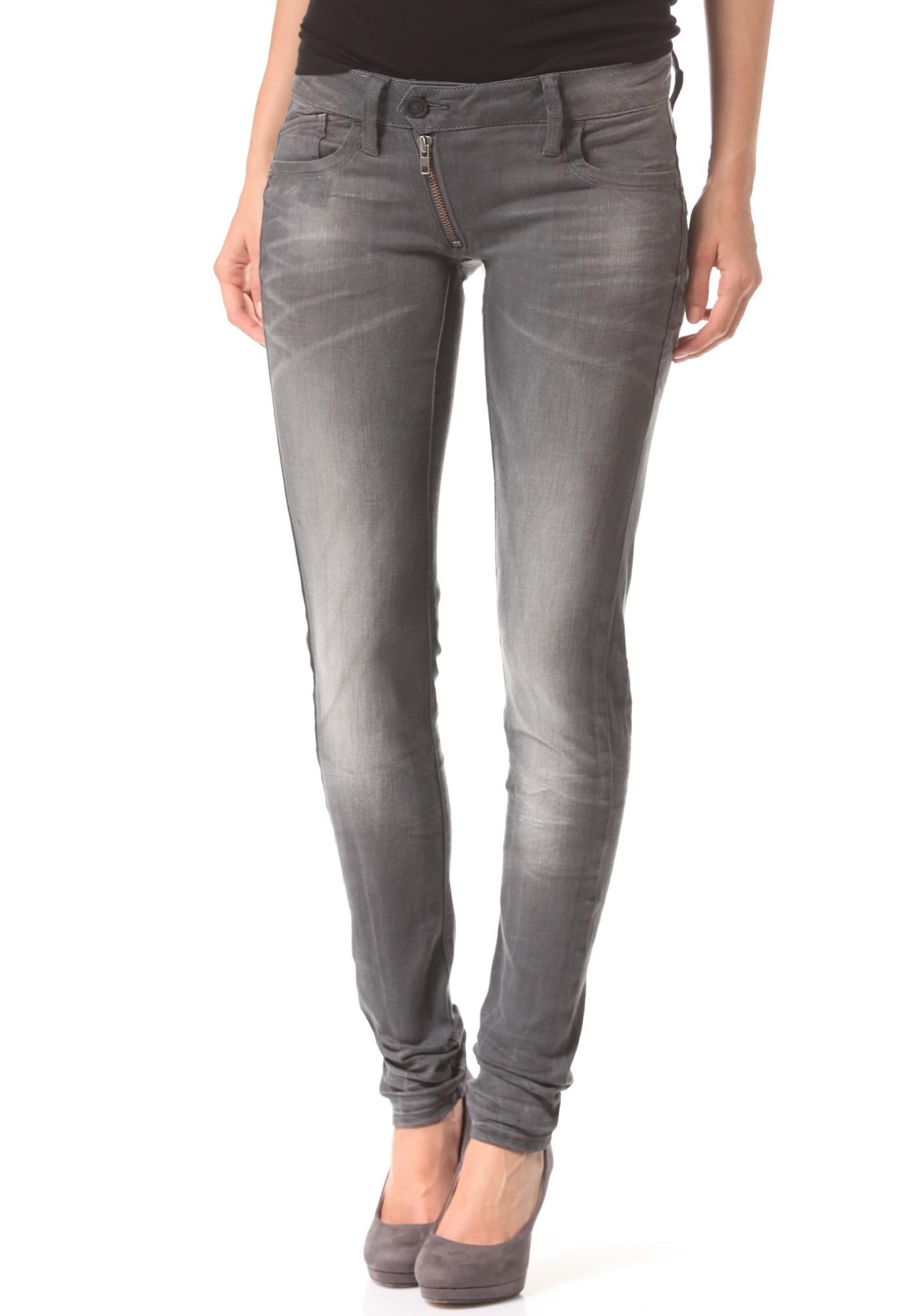 neu g star lynn zip mid skinny slander grey superstretch damen jeans hose. Black Bedroom Furniture Sets. Home Design Ideas