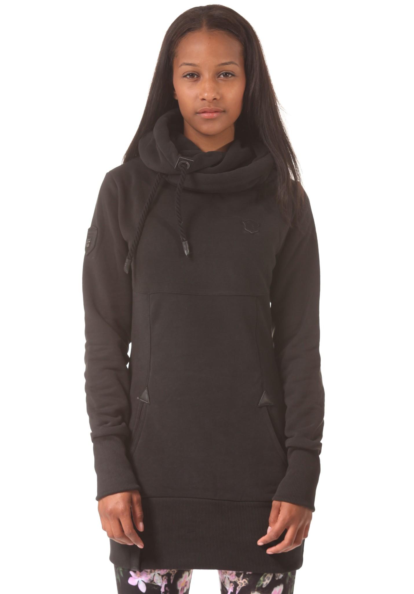 neu naketano lange damen kapuzenpullover pullover hoodie kapuzenjacke ebay. Black Bedroom Furniture Sets. Home Design Ideas