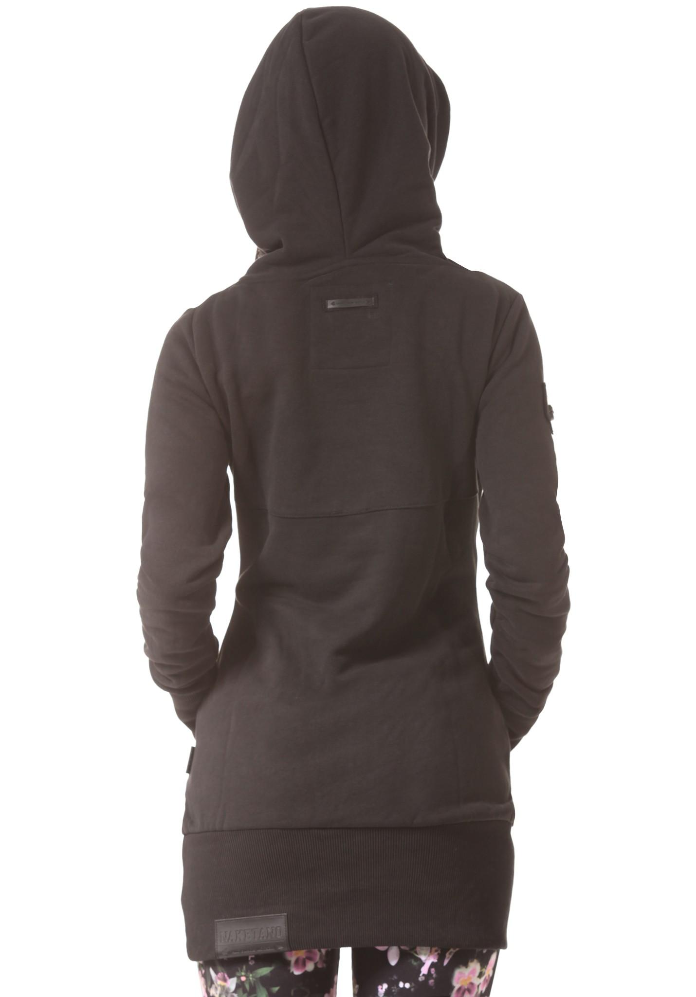 neu naketano lange damen kapuzenpullover pullover hoodie. Black Bedroom Furniture Sets. Home Design Ideas
