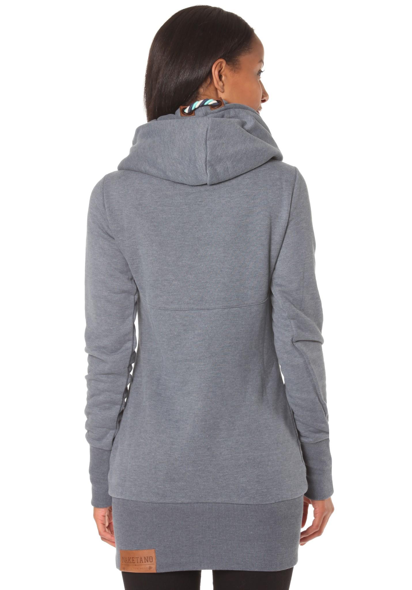 neu naketano lange vii damen kapuzenpullover pullover hoodie kapuzenjacke ebay. Black Bedroom Furniture Sets. Home Design Ideas