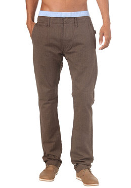 55DSL Pharchino Pant dark sand herringbone