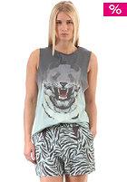 55DSL Womens Tlouisa Top mint/black/dip dyed/animal print