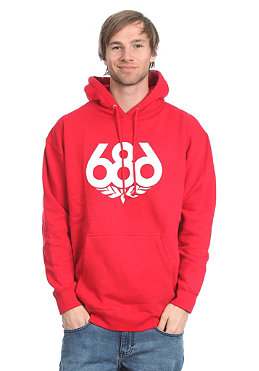 686 Wreath Hooded Sweat red