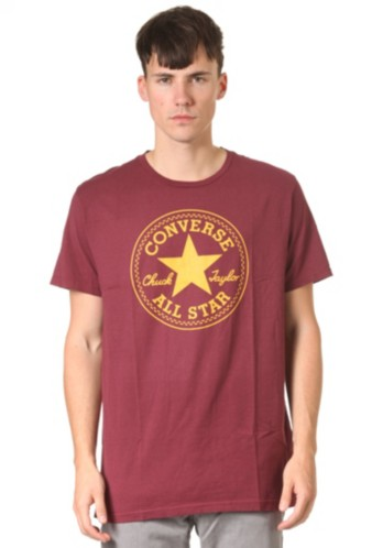 1 Col Chuck Patch Crew S S T Shirt burgundy