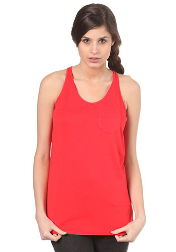 NIKE 6.0 Womens Luxe Layer PKT Tank Top action red/action red/action red