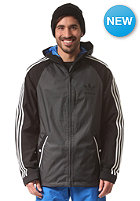 ADIDAS 3 Stripe Jacket black/dkgrey