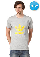 ADIDAS Adi Trefoil S/S T-Shirt medium grey heather/sunshine