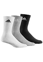 ADIDAS Adicrew HC Socks 3Pack white / grey / black