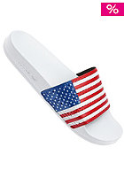 ADIDAS Adilette Flags Sandal running white ftw / collegiate royal / collegiate red
