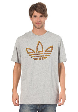 ADIDAS AS Pro Wood S/S T-Shirt medium grey heather