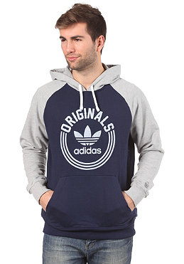 ADIDAS College Hooded Sweat dark indigo/medium grey heather