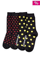 ADIDAS Crew Socks 2 Pack black/vivid red s13/white/vivid yellow s13