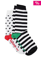 ADIDAS Crew Socks 2 Pack white/black/vivid red s13/fairway