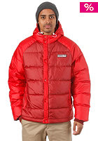 ADIDAS Down Hooded Jacket mars red