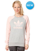 ADIDAS Fun Colour blocked Sweater medium grey heather / haze coral s13