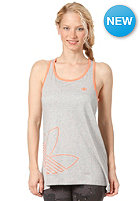 ADIDAS Fun Trefoil Tank Top medium grey heather/bliss coral s13