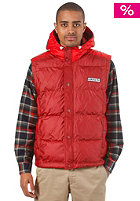 ADIDAS Hooded Vest Jacket mars red