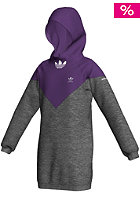 ADIDAS J Longhoody dark grey heather/power purple s12