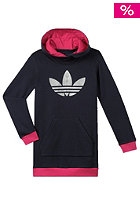 ADIDAS Kids J Trefoil Hooded Sweat megrhe/priink