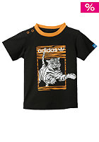 ADIDAS Kids Tiger S/S T-Shirt black/joy orange s13