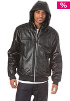 ADIDAS Padded Faux Leather Jacket black