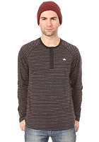 ADIDAS PB Striped Henley L/S T-Shirt black