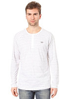 ADIDAS PB Striped Henley L/S T-Shirt white