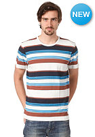 ADIDAS Stripe S/S T-Shirt white vapour s11/earth brown s13