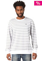 ADIDAS Stripes Crew Sweat medium grey heather