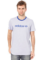 ADIDAS Summer Stripe S/S T-Shirt true blue/white