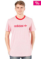 ADIDAS Summer Stripe S/S T-Shirt vivid red s13/white
