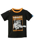 ADIDAS Tiger S/S T-Shirt black/joy orange s13