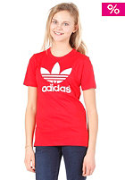 ADIDAS Trefoil S/S T-Shirt collegiate red / white