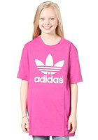ADIDAS Trefoil S/S T-Shirt vivid pink/white