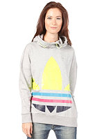 ADIDAS Womens Big Trefoil  Hooded Sweat medium grey heather