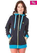ADIDAS Womens Big Trefoil Hooded Zip Sweat legend ink s10/turquoise