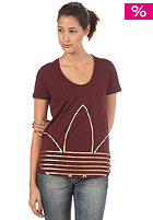 ADIDAS Womens Big Trefoil S/S T-Shirt light maroon