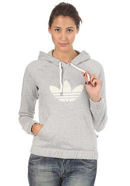 ADIDAS Womens CB Hooded Sweat medium grey heather