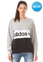 ADIDAS Womens City Sweat medium grey heather/black