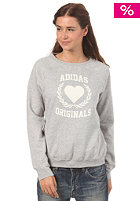 ADIDAS Womens Coll Sweatshirt medium grey heather