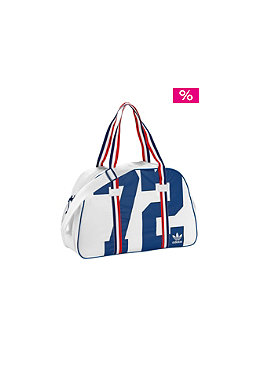 ADIDAS Womens College Holdall Bag white/power blue
