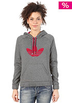 ADIDAS Womens College Hooded Sweat dark grey heather