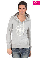 ADIDAS Womens College Hooded Sweat medium grey heather