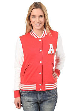 ADIDAS Womens College Jacket red rose melange/ru