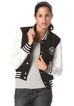 ADIDAS Womens College Letterman Jacket black/running white