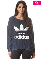 ADIDAS Womens Crew Neck FT Sweatshirt dark acid wash