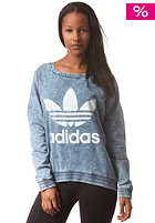 ADIDAS Womens Crew Neck FT Sweatshirt light acid wash