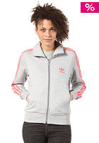 ADIDAS Womens Firebird Fle Track Top Jacket medium grey heather/red zest s13